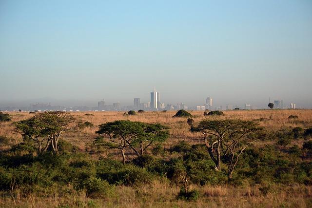 afrika panoráma města