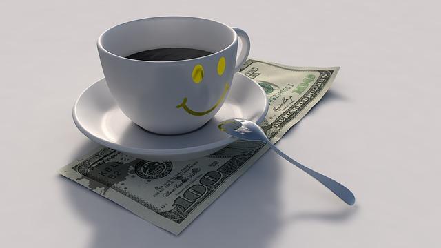 káva a dolary